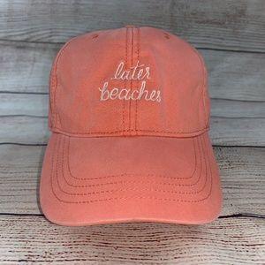 Hollister LATER BEACHES Cotton Baseball Cap Hat